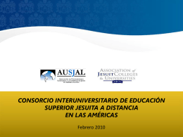 AJCU - AUSJAL Presentación - Pontificia Universidad Javeriana, Cali
