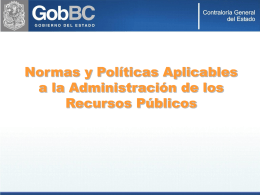 Normas y Politicas Administrativas 2008