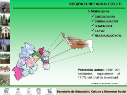 Región 9 - Gobierno del Estado de México