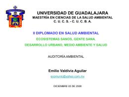 Diapositiva 1 - Maestría en Ciencias de la Salud Ambiental