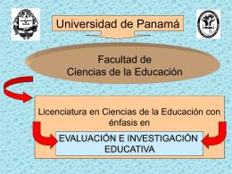 presentación del énfasis en evaluación e