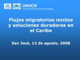 Flujos migratorios mixtos y soluciones duraderas en el Caribe