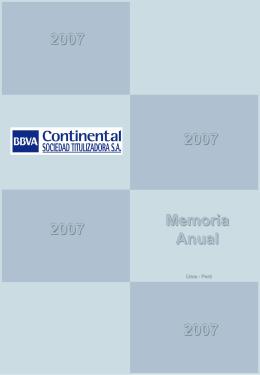 Memoria Anual - Bolsa de Valores de Lima