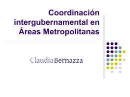 Coordinación intergubernamental de áreas