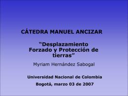 Myriam Hernández – Proyecto protección de bienes patrimoniales