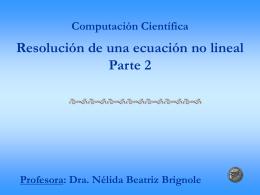 CLASE 2010 una ecuacion no lineal parte 2