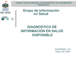 DIAGNÓSTICO DE INFORMACION EN SALUD