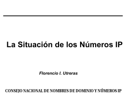 LACNIC REPORT - Consejo Nacional de Nombres de Dominio y