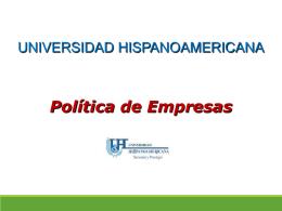 TEMA 2. Política de Empresas Conceptualización
