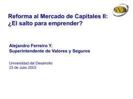Alejandro Ferreiro (Superintendente de Valores y Seguros)