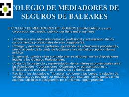 presentacion - Colegio de Mediadores de Seguros Titulados de