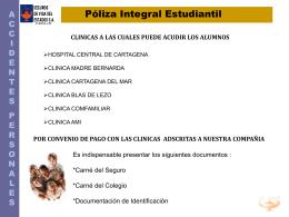 CLINICAS SEGUROS DE VIDA DEL ESTADO S.A 2012