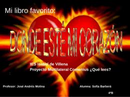 Donde este mi corazon por Sofia Barbera