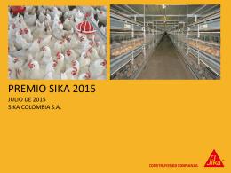 Premio Sika 2015 Presentación