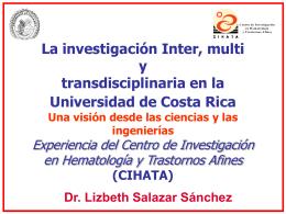 La investigación Inter, multi y transdisciplinaria en la Universidad de