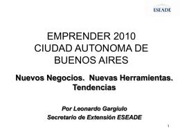 Emprender 2010 - SG Gestión y Estrategia