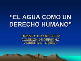 EL AGUA COMO UN DERECHO HUMANO Y FUNDAMENTAL