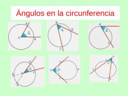 Ángulos en la circunferencia