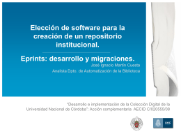 Elección de software para la creación de un repositorio institucional