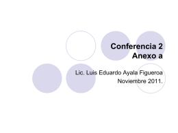 Conferencia 2 anexo a - Facultad de Jurisprudencia y Ciencias