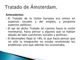Tratados de Amsterdan, Niza y Lisboa