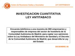 Ley Antitabaco - Cámara de Madrid
