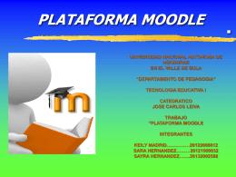 plataforma moodle - TECNOLOGIA EDUCATIVA I