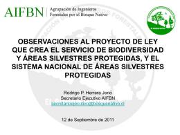 La Agrupación de Ingenieros Forestales por el Bosque Nativo (AIFBN)