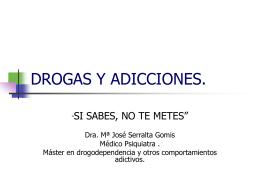 DROGAS Y ADICCIONES. - Eclipse Salud Mental