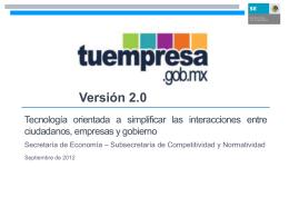 Versión 2.0 - Secretaría de Economía