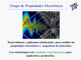 Grupo de propiedades electrónicas