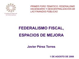 Ponencia 9 - Foro Nacional sobre Federalismo y Descentralización