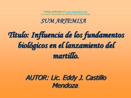 Influencia de los fundamentos biologicos en el lanzamiento