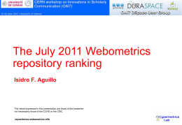 Webometrics - digital
