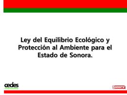 Ley No. 171 del Equilibrio Ecológico y Protección al Ambiente del