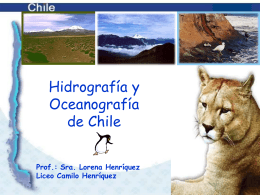 Hidrografia y Oceanografia de Chile - liceo camilo henriquez
