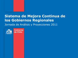 Sistema de Mejora Continua de los Gobiernos Regionales