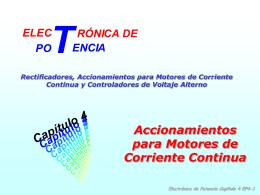 Convertidores Monofásicos para Motores de Corriente Continua