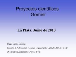 Proyectos científicos para la nueva instrumentación de Gemini