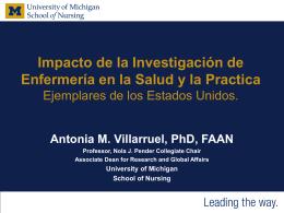 Impacto de la investigación de enfermería en la salud y la práctica.