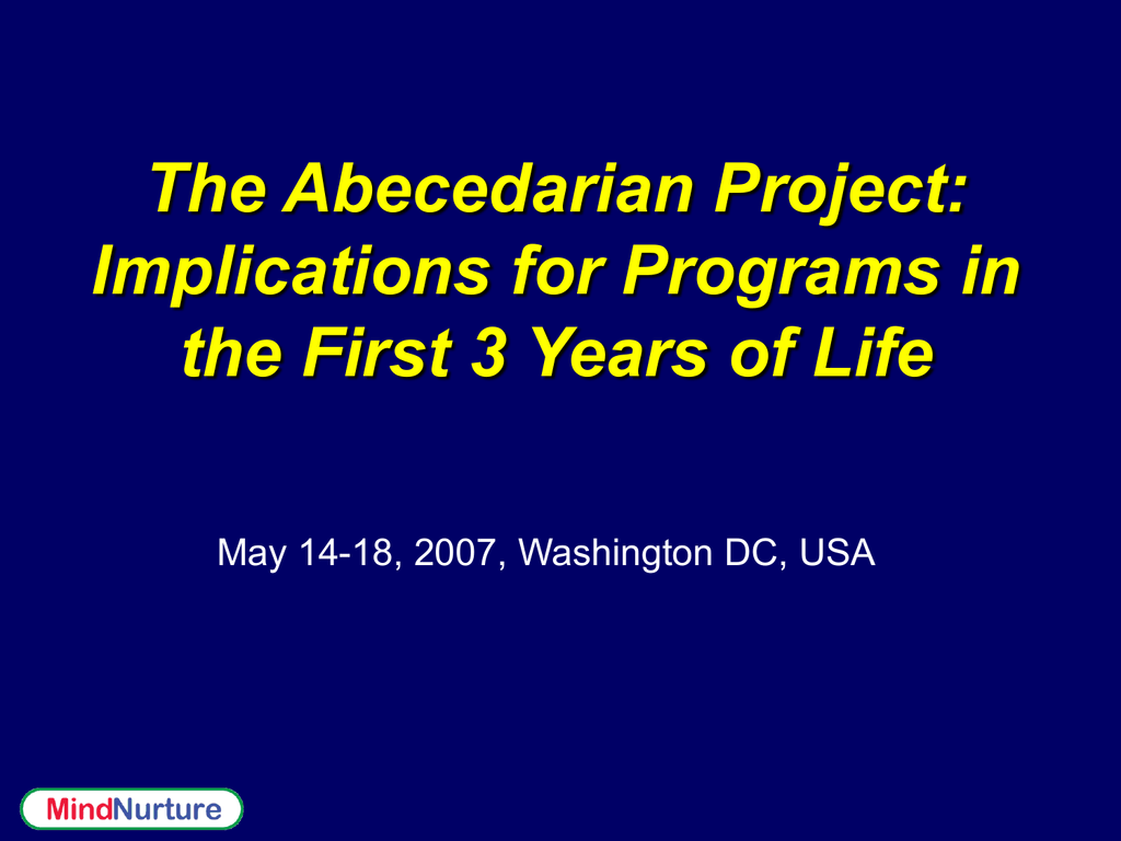 PPT – Abecedarian Project PowerPoint presentation | free ...