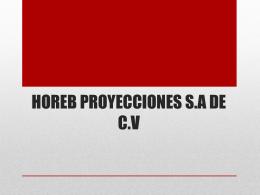 HOREB PROYECCION.
