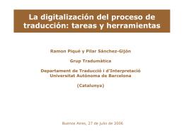 La digitalización del proceso de traducción: tareas y