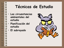 Técnicas de Estudio - Santa María Villalba