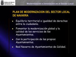 Modernización e Innovación en el Sector Local CALIDAD