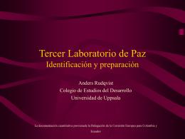 Tercer Laboratorio de Paz Identificación y preparación