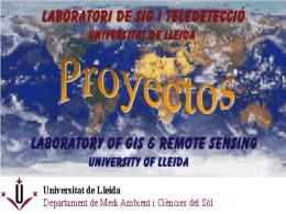 (Landsat 5) y SIG. - Universitat de Lleida