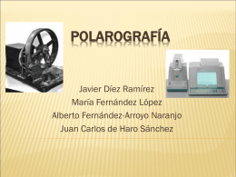 Polarografía - juanaflores