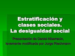PPT Estratificación y Clases Sociales: La desigualdad social