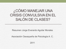 Cómo manejar una crisis convulsiva en el salón de clases